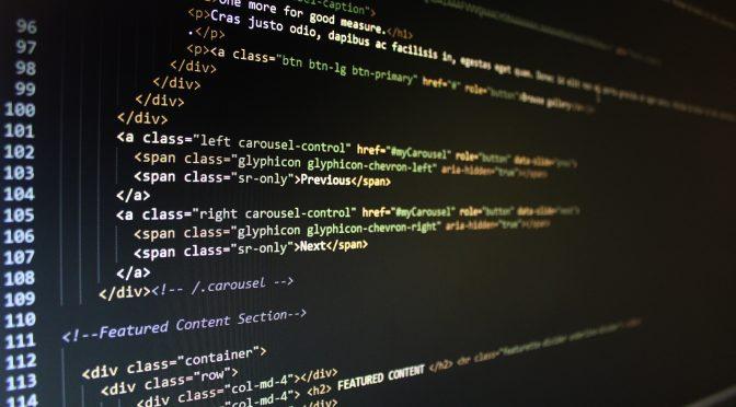 codice html sito web