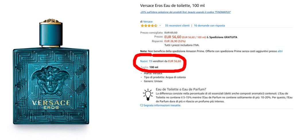 profumi originale su ebay o amazon