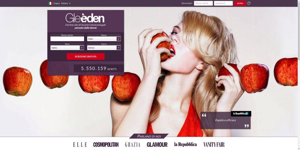 gleeden homepage