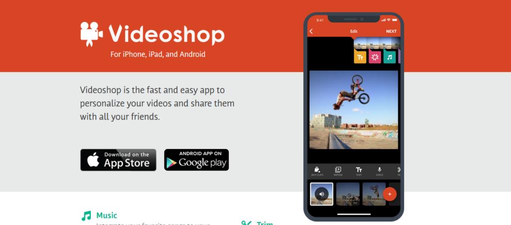 migliori app per montare video videoshop