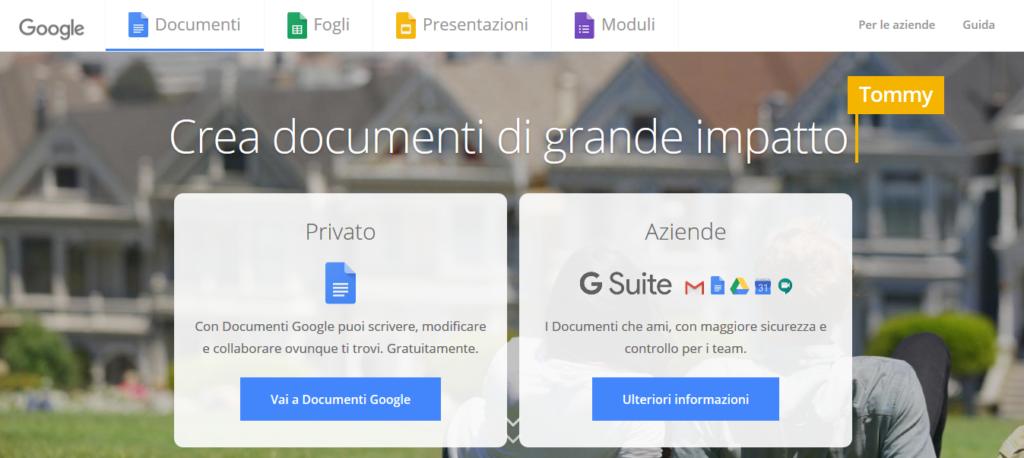 migliori app per scrivere documenti google