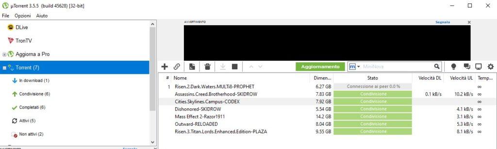 uTorrent, il client bittorrent più conosciuto